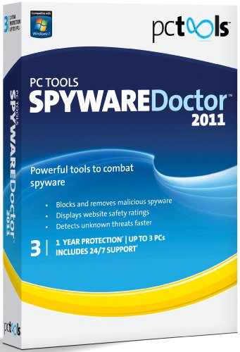 PC Tools Spyware Doctor 2011, 3 Computers, 1 Year Subscription (PC) [import anglais]