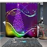Camping Duschvorhang Pfirsichblüten Duschvorhang Fenster Anti-Schimmel Und Wasserabweisend 180*180Cm Top Qualität Wasserdicht, Anti-Schimmel-Effekt 3D Digitaldruck Inkl. 12 Duschvorhangringe Für