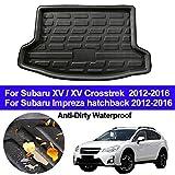 SLONGK Kofferraumboden-Teppiche Tray Pad Mat des Auto-hinteren Kofferraum-Fracht-Zwischenlagers, für Crosstrek Subaru XV/XV/Impreza-Hatchback 2012-2014 2015 2016