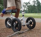 KneeRover PRO All Terrain Knee Scooter with Shock Absorber - Silver #1