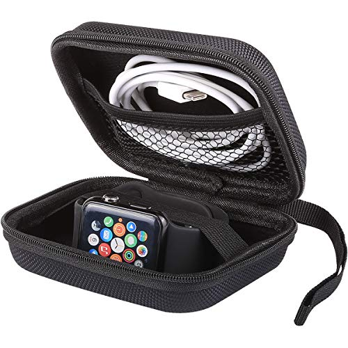 iMangoo Smart Watch Carrying Case Shockproof Protective Holder Bag for Apple Watch Case Organizer Travel Storage Box iWatch Pouch EVA Zipper Wallet for Apple Watch 42mm 38mm 2 3 4 Series Black/Red