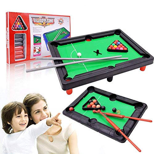 Balls Ball Sticks Tabletop Billiards Game Mini Snooker Pool Table Set with Triangle Frame VGEBY Mini Pool Table