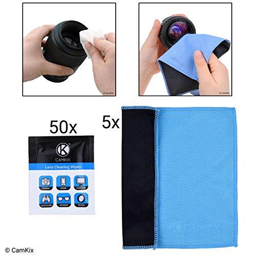Camkix® Juego de Limpieza para Lentes y Pantallas - 5 Paños de Doble Capa, Toallas húmedas empacados Individualmente - para Lentes, Lentes de Sol, Lentes de cámaras, Pantallas de telefono/Tablas, etc