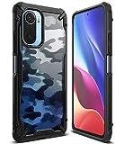 Ringke Fusion-X Compatible con Funda Xiaomi Poco F3, Compatible con Funda Xiaomi Mi 11i (6,67 Pulgadas), Parachoque a Prueba de Golpes, Carcasa Diseño de Camuflaje Protectora - Camo Black