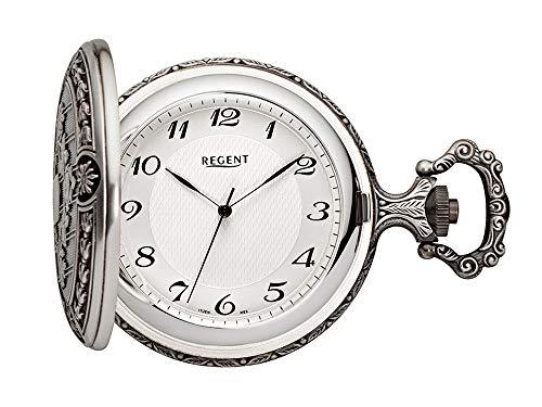 Regent Reloj de Bolsillo Antiguo Analog Mecanismo Plateado ennegrecido P de 192