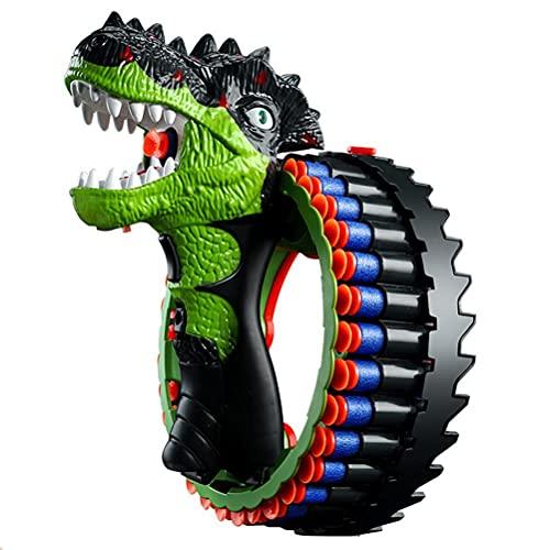 Mify Brazalete de Dinosaurio Lanzador de Dardos motorizado, Juguete de Disparo eléctrico, Brazalete de Juego de explosión eléctrica con 34 Juguetes de Disparo de Balas Suaves