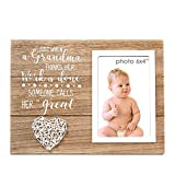 VILIGHT New Great Grandma Gifts - Rustic Picture Frame for Great-Grandmother to Be - 4x6 Inches Photo