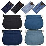 8 Piezas Extensores de Botones para Pantalones Elásticos de Maternidad Extensor de Cintura Ajustable