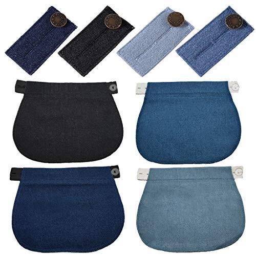 8 Piezas Extensores de Botones para Pantalones Elásticos de Maternidad