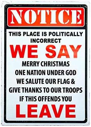 River's Edge Warning Politically Incorrect Tin Sign