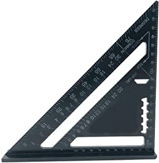ابزار اندازه گیری ابزار نجاری Trammel زاویه حاکم مثلث آلیاژ آلومینیوم 7 اینچ 7 ابزار اندازه گیری چیدمان اندازه گیری