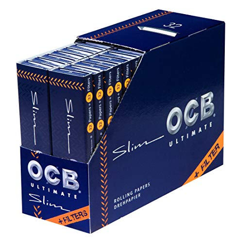 OCB Ultimate ultradünne Papers+Tips King Size Slim Blättchen 2 Boxen (64 Heftchen)