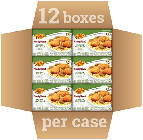 Kosher MRE Meat Meals Ready to Eat, Chicken Meatballs & Mushrooms (12 Pack) - Prepared Entree Fully Cooked, Shelf Stable Microwave Dinner – Travel, Military, Camping, Emergency Survival Protein Food