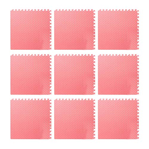 9pcs Foam Floor, Gym Flooring Mat Exercise Mats P uzzle Eva Floor Tiles Foam Exercise Mats, 11.81x11.81x0.47inch, For Play Rooms, Exercise Rooms(Red)