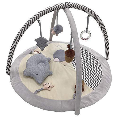FZTX-LPX Alfombrilla de Juego para bebés Desarrollo temprano Animales Alfombrilla de Cascabel Colgando Alfombrillas de Juego Apto para niños de 1 a 36 Meses Bebés, recién Nacidos, niños y niñas