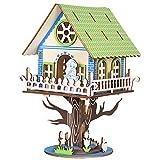 T-Club Casse-tête 3D en Bois Cabane dans Les Arbres Kits modèles Adultes Jouet d'Assemblage Bricolage Maquette d'Architecture en Bois