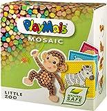 PlayMais Mosaic Little Zoo Kreativ-Set zum Basteln für Kinder ab 3 Jahren | Über 2.300 Stück & 6 Mosaik Klebebilder mit Zootieren | Fördert Kreativität & Feinmotorik | Natürliches Spielzeug -