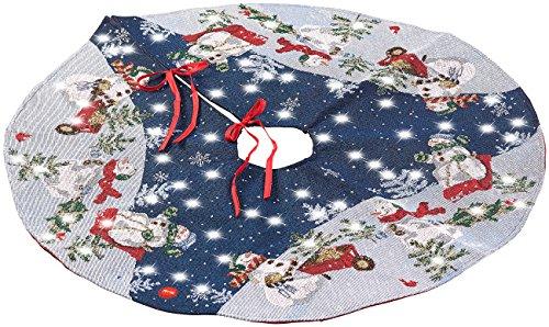 Lunartec Weihnachtsbaumdecke: Hochwertige Weihnachtsbaum-Ständer-Decke mit LED-Lichtern, rund, 90 cm (Decke für Weihnachtsbaumständer)
