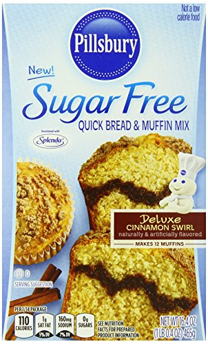 Pillsbury Sugar Free Cinnamon Swirl Flavored Quick Bread and Muffin Mix, 16.4 Ounce