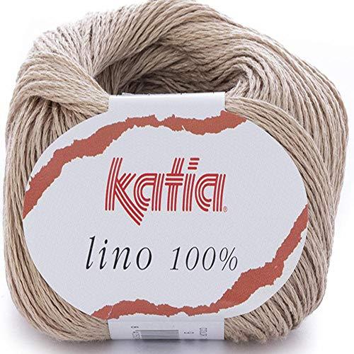 Lanas Katia Lino Ovillo de Color Beis Cod. 9