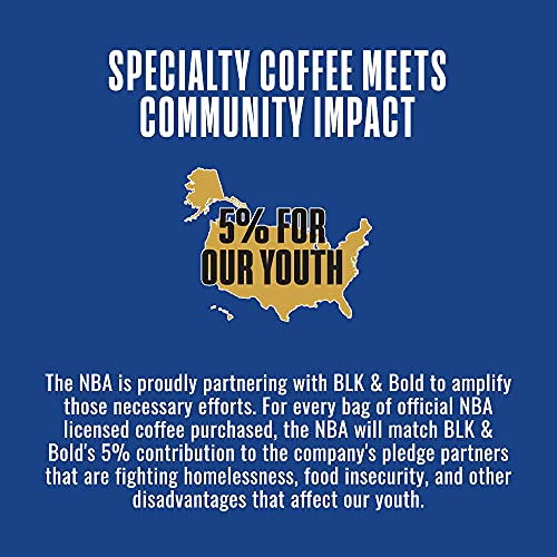 BLK & Bold   Officially Licensed NBA Special Edition Coffee   The Warm Up Blend   Medium Roast   Whole Bean Coffee   12 oz Eastern Conference Bag