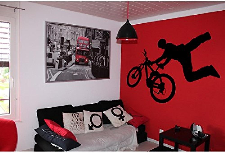 TATOUTEX Free Style Bike Stickers – Burgundy, L 180 cm x H 100 cm