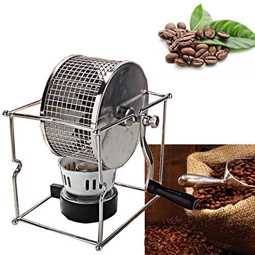 TYYW Los tostadores de café, el café del hogar Molino de Grano de la máquina de molienda Manual del Grano de café Rodillo Asar máquina de Acero Inoxidable Pequeño