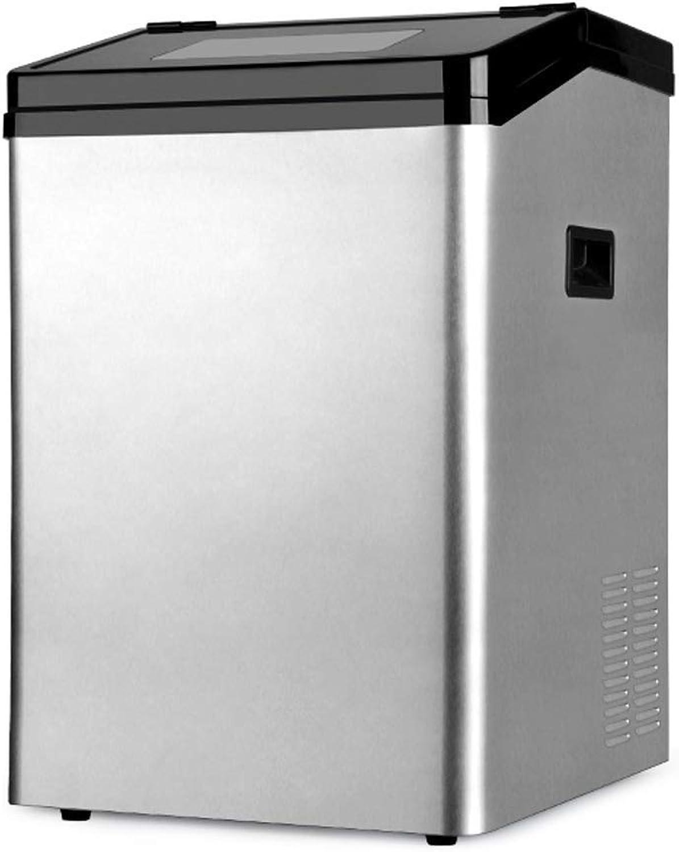 TYUIO Máquina portátil para Hacer Hielo en la encimera Máquina fabricadora de Hielo para el hogar, 120 LB por 24 Horas, Cubos de Hielo listos en 13 Minutos, con Cuchara para Hielo (Astilla)