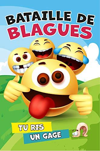 Bataille de blagues – Tu ris, un gage. : Jeu pour enfants. Livre de 200 blagues + gages. Fous rires garantis. Bonus : cartes pour écrire tes propres blagues !