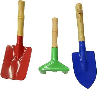 set di attrezzi da giardinaggio per bambini ideale per giocare allaria aperta ed educare i bambini rastrello e vanga con pala Rocita