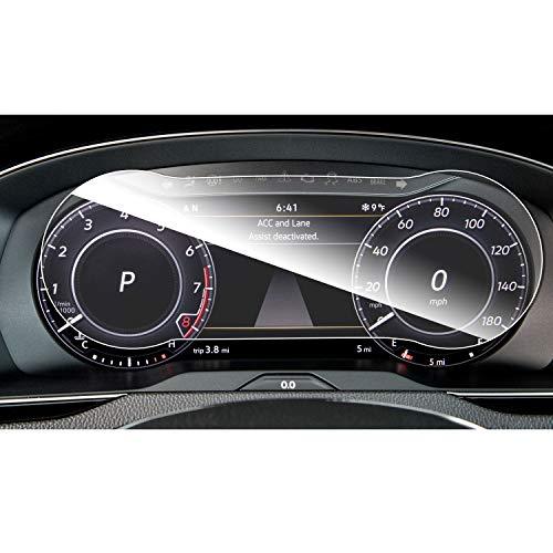 RUIYA - Pellicola protettiva per display per Tiguan 2 MK2 GTE Allspace 2016-2018, in vetro temperato da 12,3', resistente ai graffi e agli urti (HD)