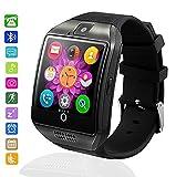 Montre Connectée Bluetooth étanche, MallTEK Smartwatch Support SIM / TF Carte Smart Watch Débloqué avec Caméra Pédomètre Moniteur de Sommeil SMS Whatsapp pour Android Smartphone Homme Femme