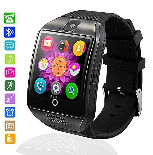 Smartwatch Bluetooth, MallTEK Smartwatch mit SIM Karte und Memory Card Slot Smart Watch mit Whatsapp Facebook Kamera Pedometer Schlaf Monitor Smart Watch Smart Uhr Band für Android