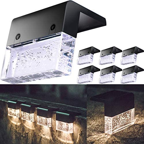 Solar Deck Lights Fence Post Lights Outdoor Lighting Garden Decorative Permanent On All Night product image
