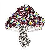 FOPUYTQABG Brosche AliExpress Brosche caliente Nueva Brosche, Exquisite Diamante Pequeño Seta Brosche, All Match -Bekleidungszubehör