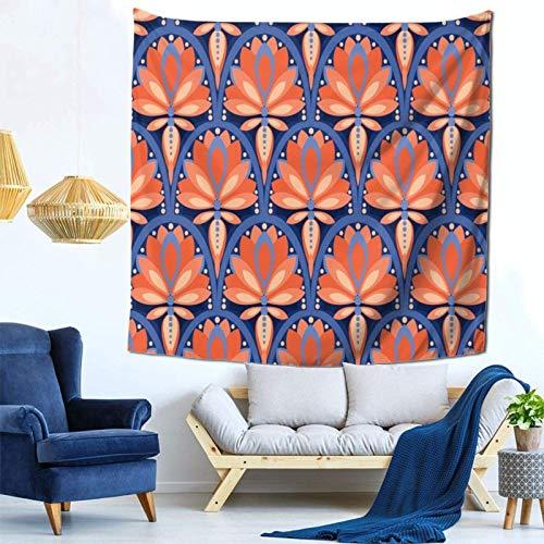 Lsjuee Rosette colorate Arazzo Appeso a parete Decorazioni per la casa Fan Art per Camera da letto Soggiorno Dormitorio