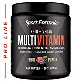 Vitamin Powder Liquid Multivitamin Powder Drink Mix for Men Women BCAA Amino Acids Wont Upset Your Stomach Optimize Keto Vegan Multivitamin Fruit Flavor Electrolytes Super B Complex Digestive Enzyme