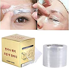Adecco LLC 2 Rolls Tattoo Cover, Barrier Film Tattoo Wrap Disposable Hygiene Tattoo Cling Film Make Up Transparent Plastic Roller for One-Way Eyebrow Lips Permanent Makeup Accessories