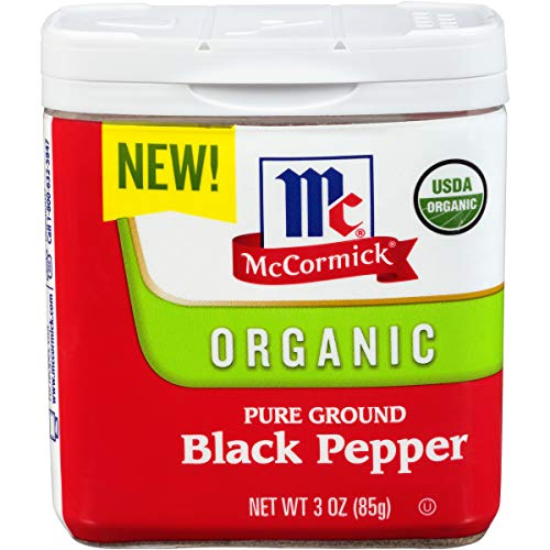 McCormick Ground Organic Black Pepper, 3 oz