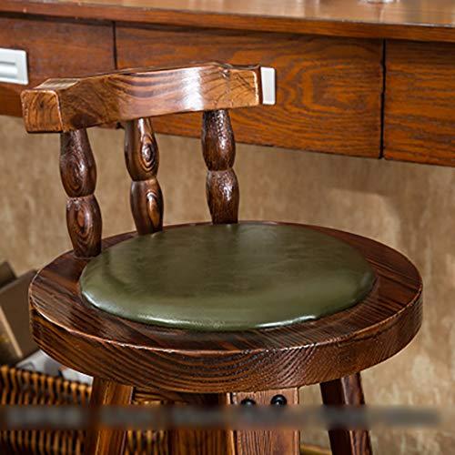Barhocker Barhocker Massivholz Kuhfell Hochstuhl Sessel Haushalt Retro Front Desk Chair Hocker (Farbe : A3, größe : 72cm)