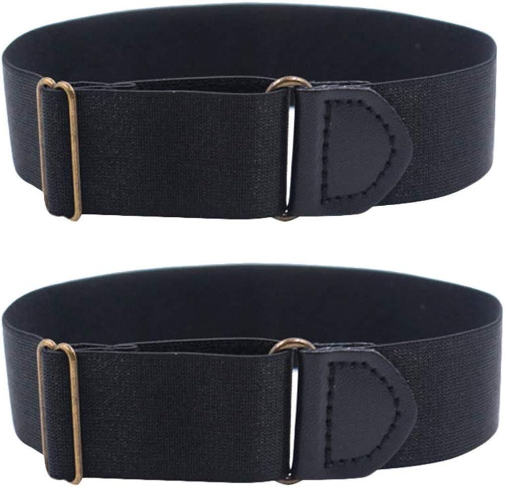 SUPVOX 2pcs Sleeve Garters Non Slip Shirt Sleeve Holders Armband for Women Men (Black)