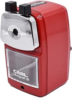 CARL Angel-5 Pencil Sharpener, Red (Renewed)