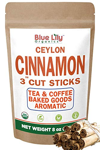 Organic Ceylon Cinnamon Sticks 8 Oz from Sri lanka