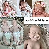 XBR Reborn Baby Dolls, 22 Pulgadas 55cm DIY Reborn Baby Doll Kit, sin Pintar Reborn Kit DIY Baby Doll de Cuerpo Completo de Silicona Suave Elf Baby Doll DIY Kit