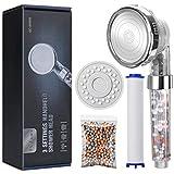 Baban Soffione doccia alta pressione, filtrante professionale, Sistema di filtrazione a qu...