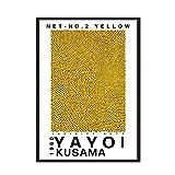 Japanische Künstlerin Yayoi Kusama Ausstellung Poster