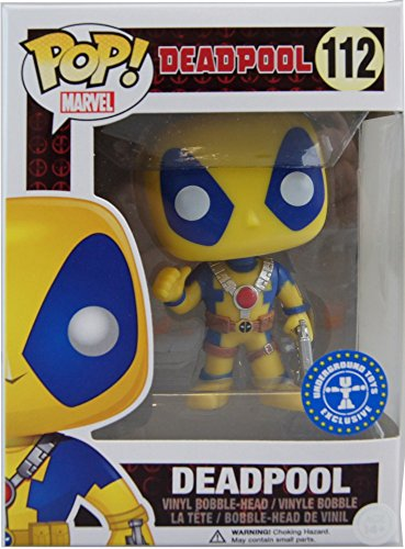 Funko - Pdf00005599 - Pop - Marvel - Deadpool - Yellow Costume 112 - Noir/Gris