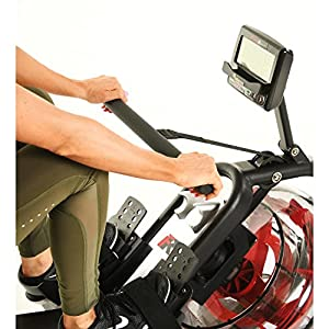 Fitness Reality 3000WR Bluetooth Water Rower Rowing Machine with HIIT Workout, Black