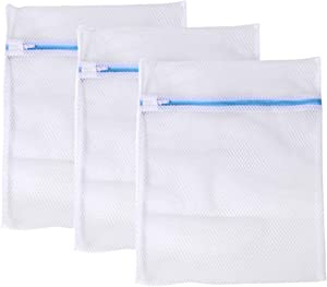 TOPBATHY 3PCS Laundry Bag Polyester Washing Bag Underwear Bra with Zipper Wash Bag Special Washing Machine Wash Protect Bag for Home School Bathroom