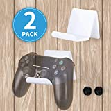 Controller Stand Holder Wall Mount, Universal Multifunction Video Game Controller for Display or Organization, Perfect for PS4/PS3/Steam/Xbox/Xbox One/PC/Switch Pro Controller - White (2Pack)